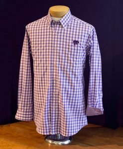Purple Gingham K-State Shirt